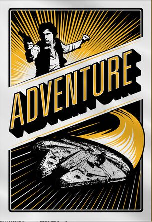 Star Wars™ Parenting Adventure Father's Day Card for Husband