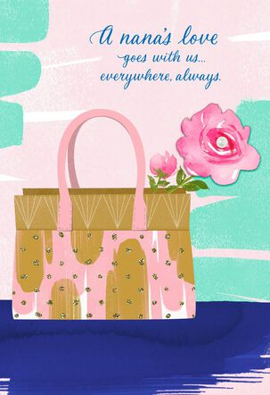 Thankful for Nana's Love Pink Purse Mother's Day Card