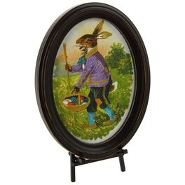 "Mr. Bunny Small Framed Art With Easel, 8.75"", , large"