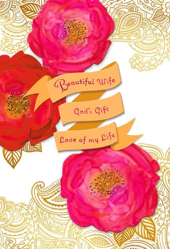 beautiful wife religious valentines day card