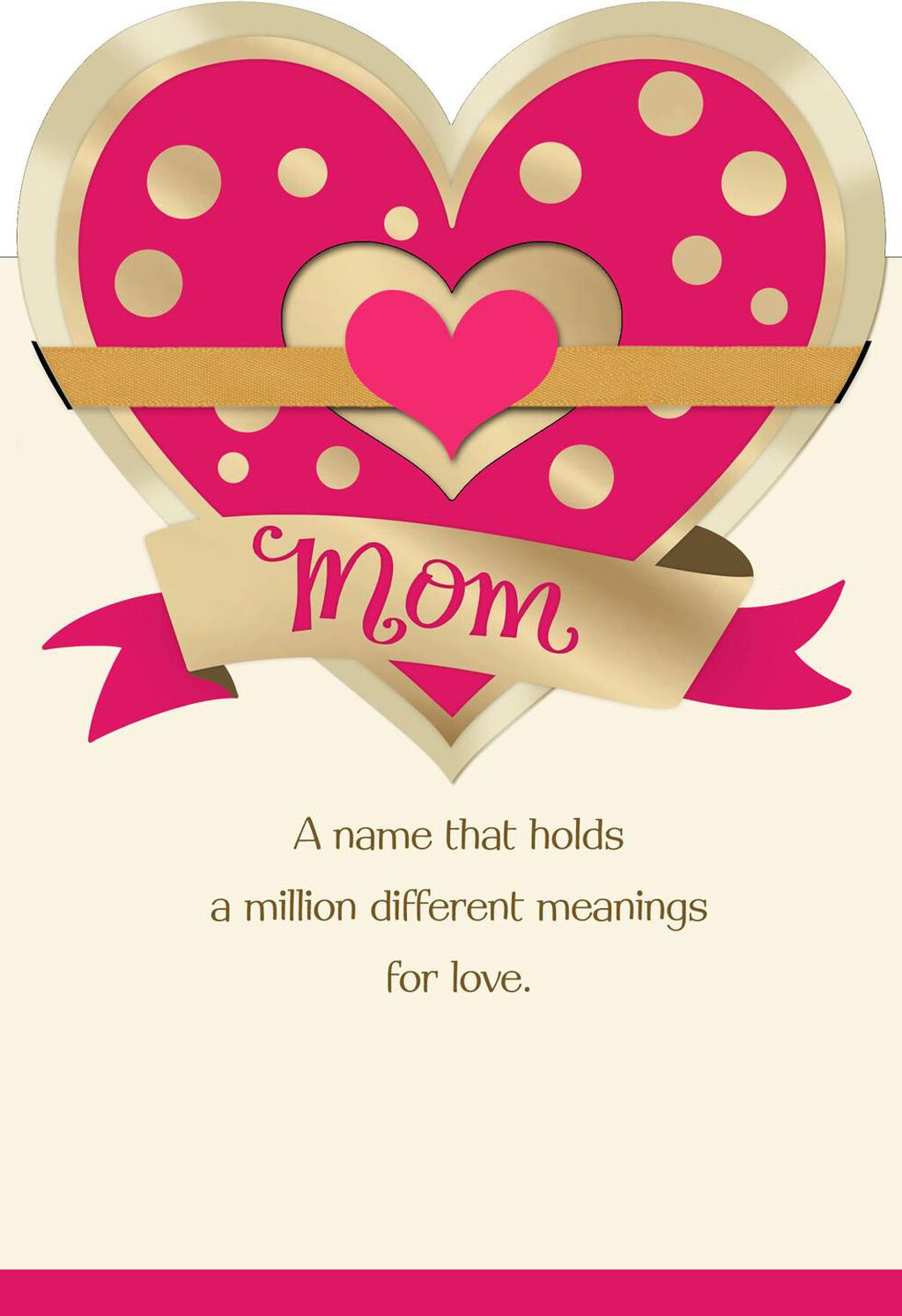 Multiple Hearts And Messages Valentines Day Card For Mom Greeting