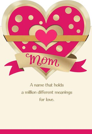 Multiple Hearts and Messages Valentine's Day Card for Mom