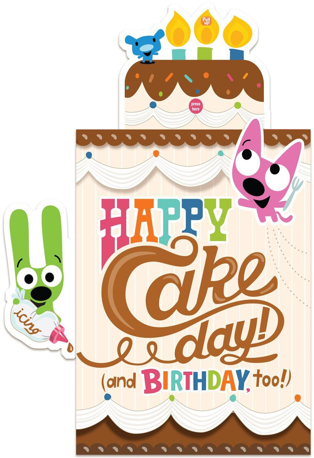 Pop Up Birthday Cake Sound Card