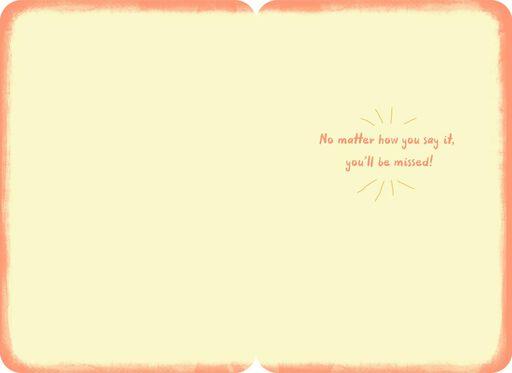 Farewell, So Long, Happy Trails Goodbye Card,