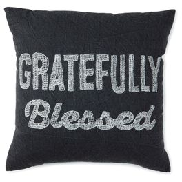 Gratefully Blessed 16x16 Throw Pillow, , large