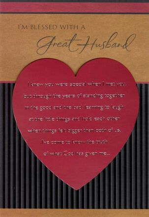 Exceptional Man Religious Valentine's Day Card for Husband