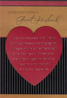 Exceptional Man Religious Valentine's Day Card for Husband,