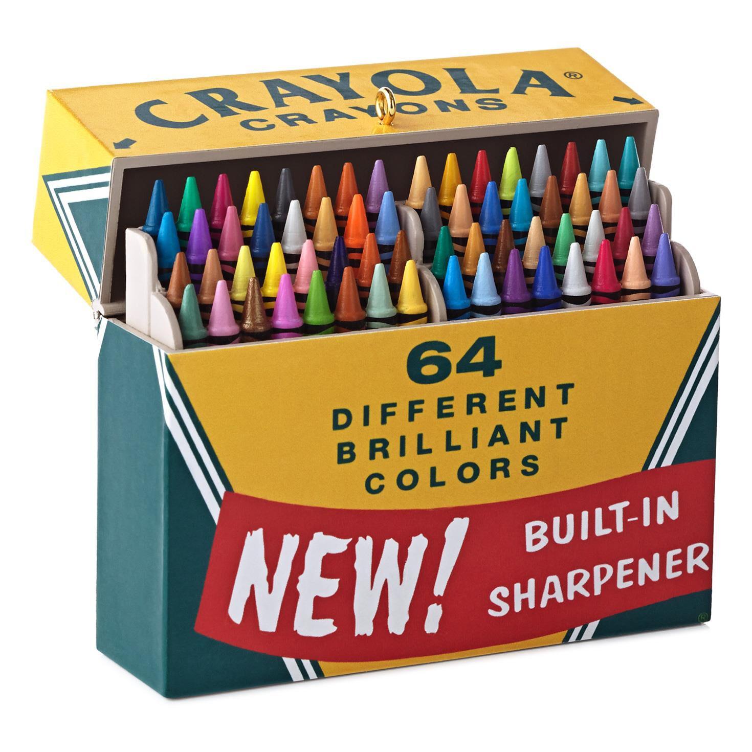 Individual ornament boxes - Crayola Crayons Big Box Of 64 Ornament Keepsake Ornaments Hallmark