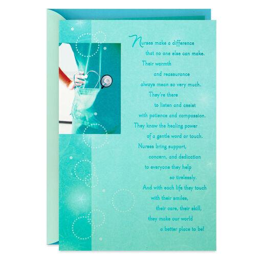 de8fc5ea2a4 Blue Scrubs Nursing Graduation Card, ...