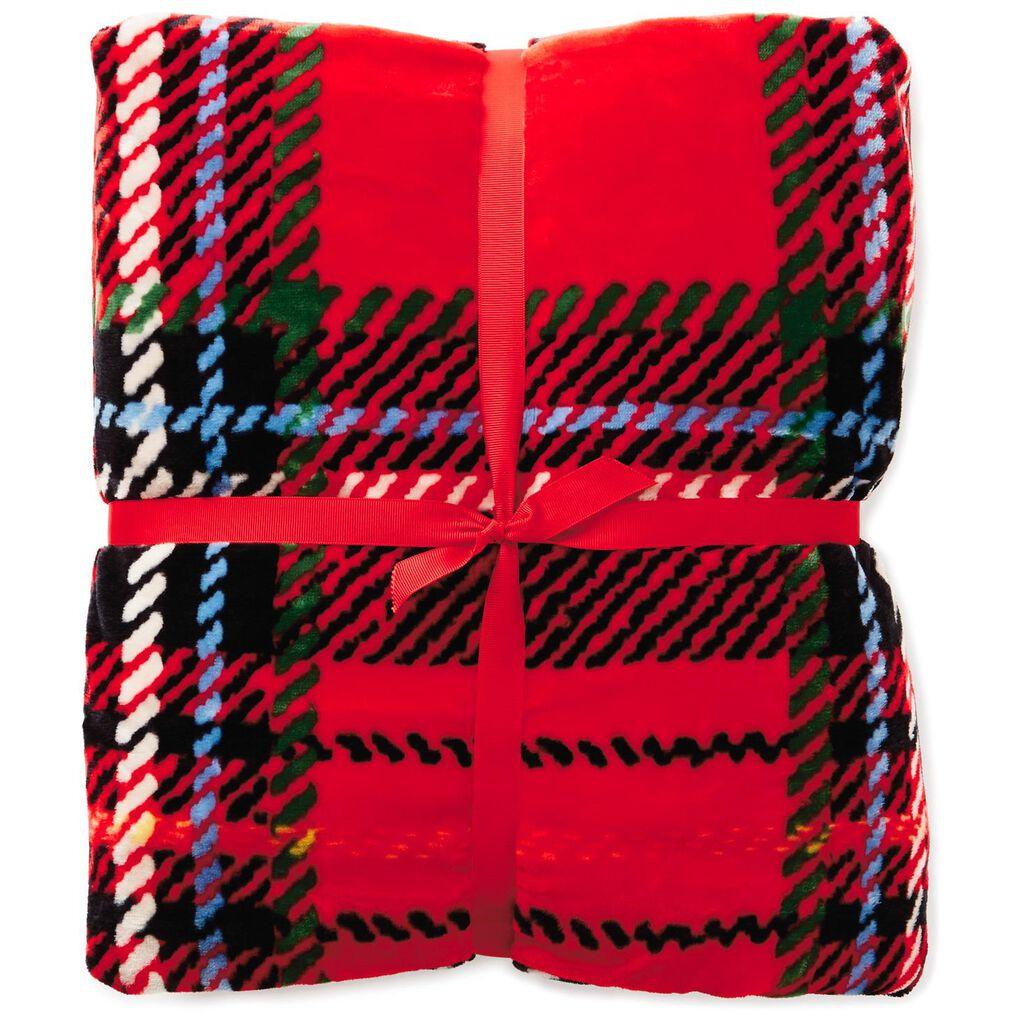 4adaff4fc9 ... 50x60 Holiday Plaid Throw Blanket