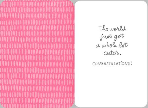 AWWW New Baby Girl Congratulations Card,