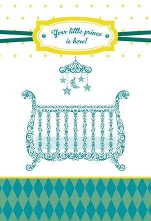 Little Prince New Baby Boy Congratulations Card