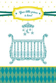 Little Prince New Baby Boy Congratulations Card,