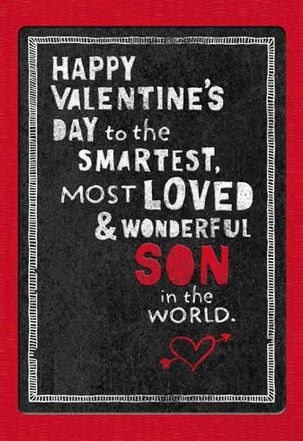 Son of Proud Parents Valentine's Day Card