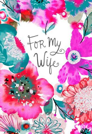 Real Love Watercolor Wife Valentine's Day Card