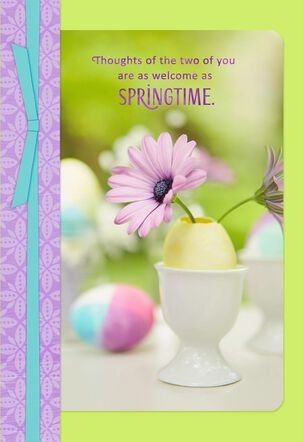 Welcome as Springtime Easter Card for Daughter and Son-in-Law