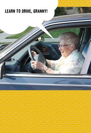 Cranky Granny Driver Funny Birthday Card