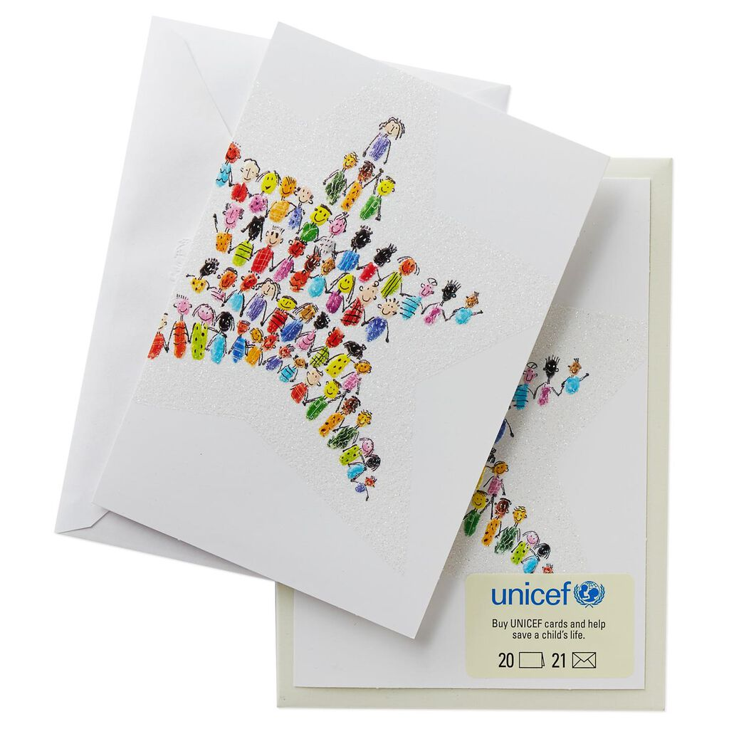 UNICEF Children Christmas Star Christmas Cards, Box of 20 - Boxed ...
