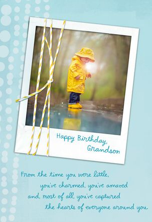 Thinking of You With Love Birthday Card for Grandson