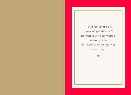 A World of Happiness Valentine's Day Card for Couple,