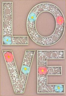 Something Beautiful Wedding Card,