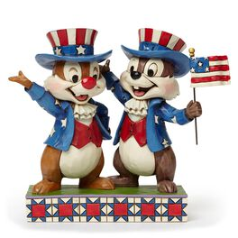 Jim Shore Hooray for the USA! Patriotic Chip and Dale Figurine, , large
