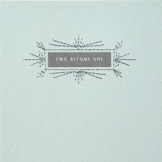 Two Become One Wedding Card,