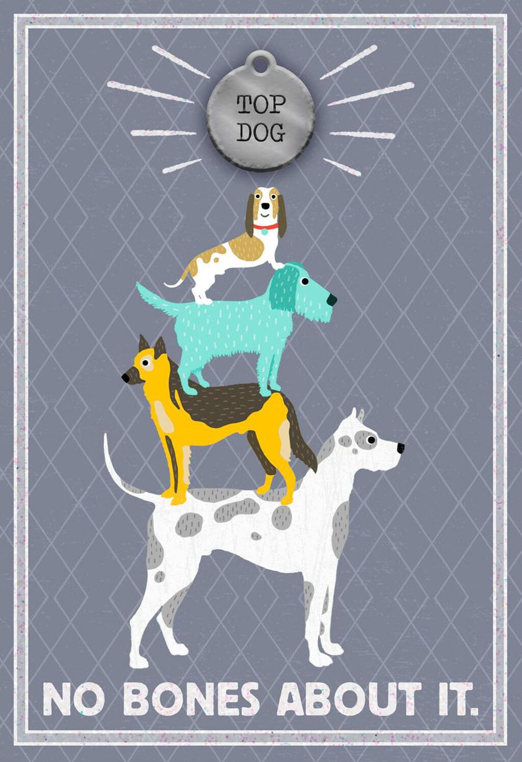 Top Dog Birthday Card With Pet Tag