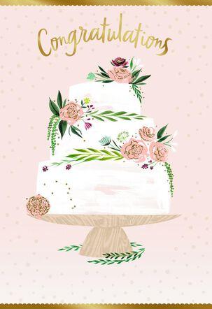 Wedding Cake Wishes Wedding Card