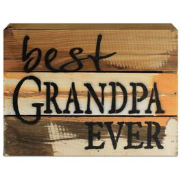 Best Grandpa Ever Wood Sign, 8x6, , large
