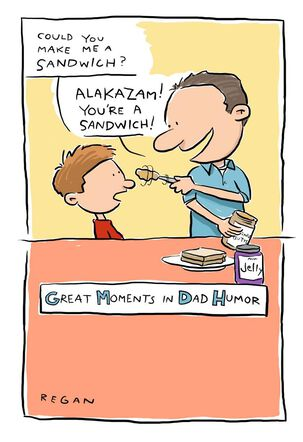 Dad Sandwich Funny Father's Day Card