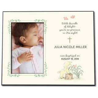 Little Lamb Personalized 4x6 Baby Picture Frame,