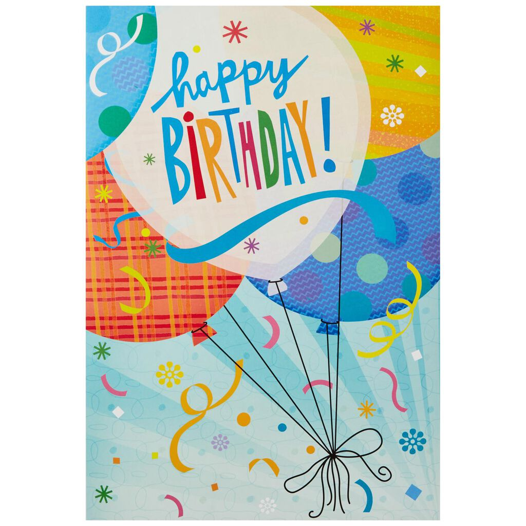 Balloons For Fun Pop Up Jumbo Birthday Card 16 Greeting Cards