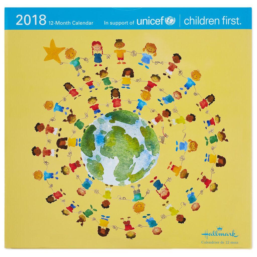 UNICEF 2018 Wall Calendar, 12-Month - Calendars - Hallmark