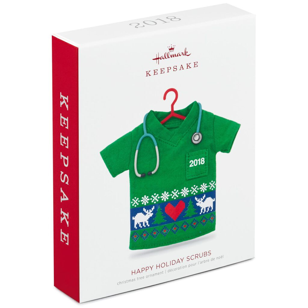 e89bedd43b4 Happy Holiday Scrubs 2018 Ornament - Keepsake Ornaments - Hallmark