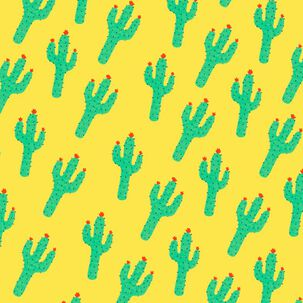 Cactus Print Blank Card