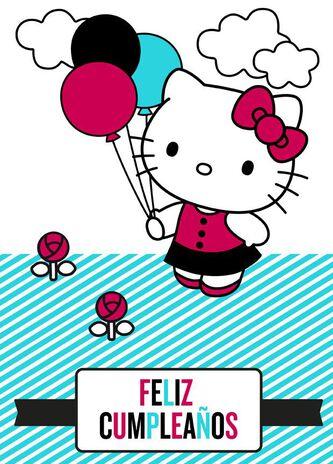 Hello kitty large spanish language birthday card 12 greeting hello kitty large spanish language birthday card 12 reheart Images