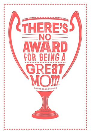 Great Mom Trophy Mother's Day Card