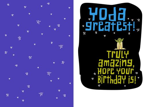 Star Wars™ Yoda™ Truly Amazing Nephew Kids Birthday Card,