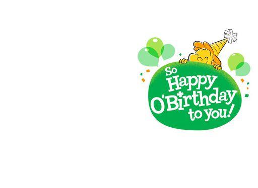Happy O'Birthday St. Patrick's Day Card,