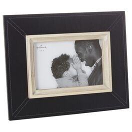 Black Leather 4x6 Picture Frame, , large
