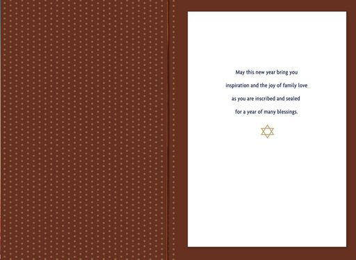 A Year of Many Blessings Rosh Hashanah Card,