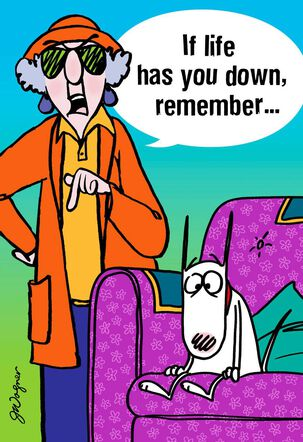 Maxine™ Kicking Butts Funny Encouragement Card