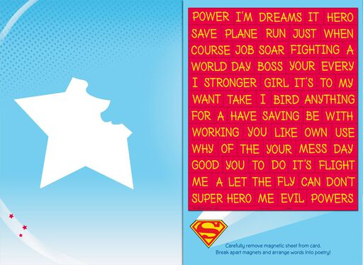 DC Super Hero Girls™ Powers for Good Card With Magnetic Poetry Words,