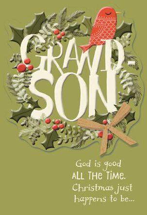 Grandson Religious Christmas Card