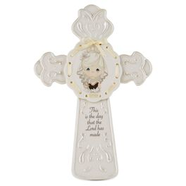 Precious Moments® First Communion Girl Cross with Easel Stand, , large