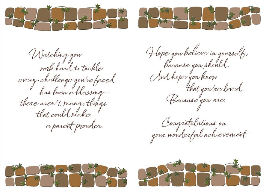 Bricks And Ivy College Graduation Card For Son Greeting Cards