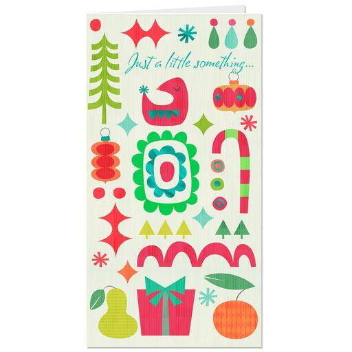 Whimsical Icons Money Holder Christmas Card