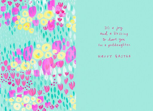 Beautiful You Flower Easter Card for Goddaughter,