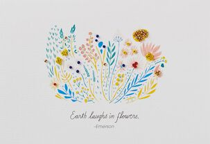 Earth Laughs In Flowers Blank Card